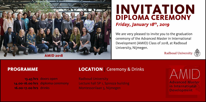 Invitation AMID 2018 graduation